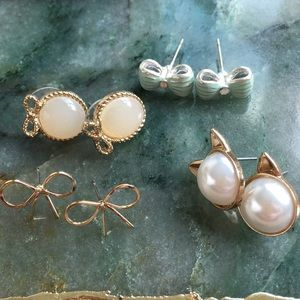 Four (4) Pairs of LC by Lauren Conrad Earrings